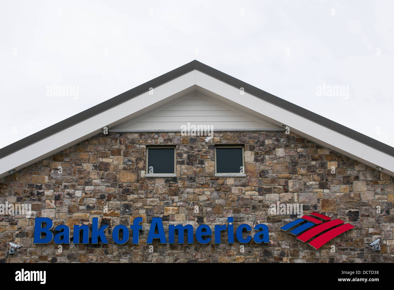 A Bank Of America branch.  - Stock Image
