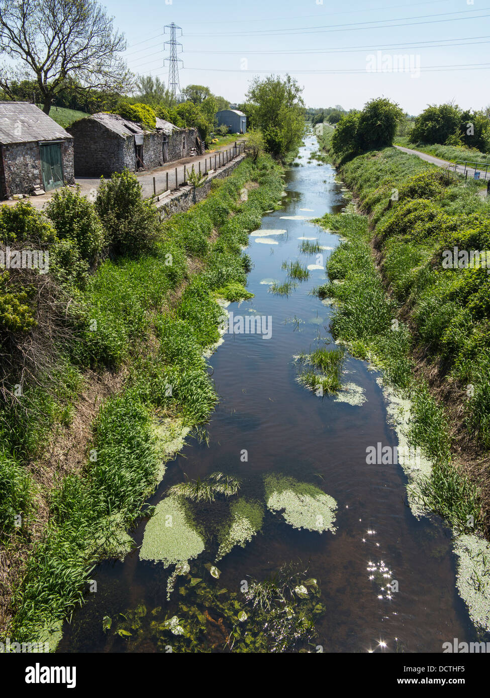 this is the newry canal it was the uks first ever summit level canal - Stock Image