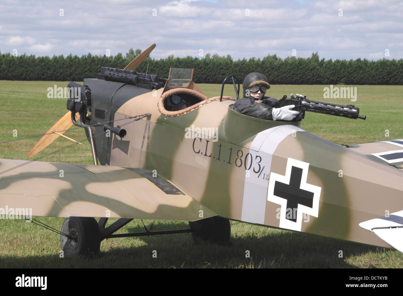 Junkers CL1 monoplane at White Waltham Retro Festival 2013 - Stock Image