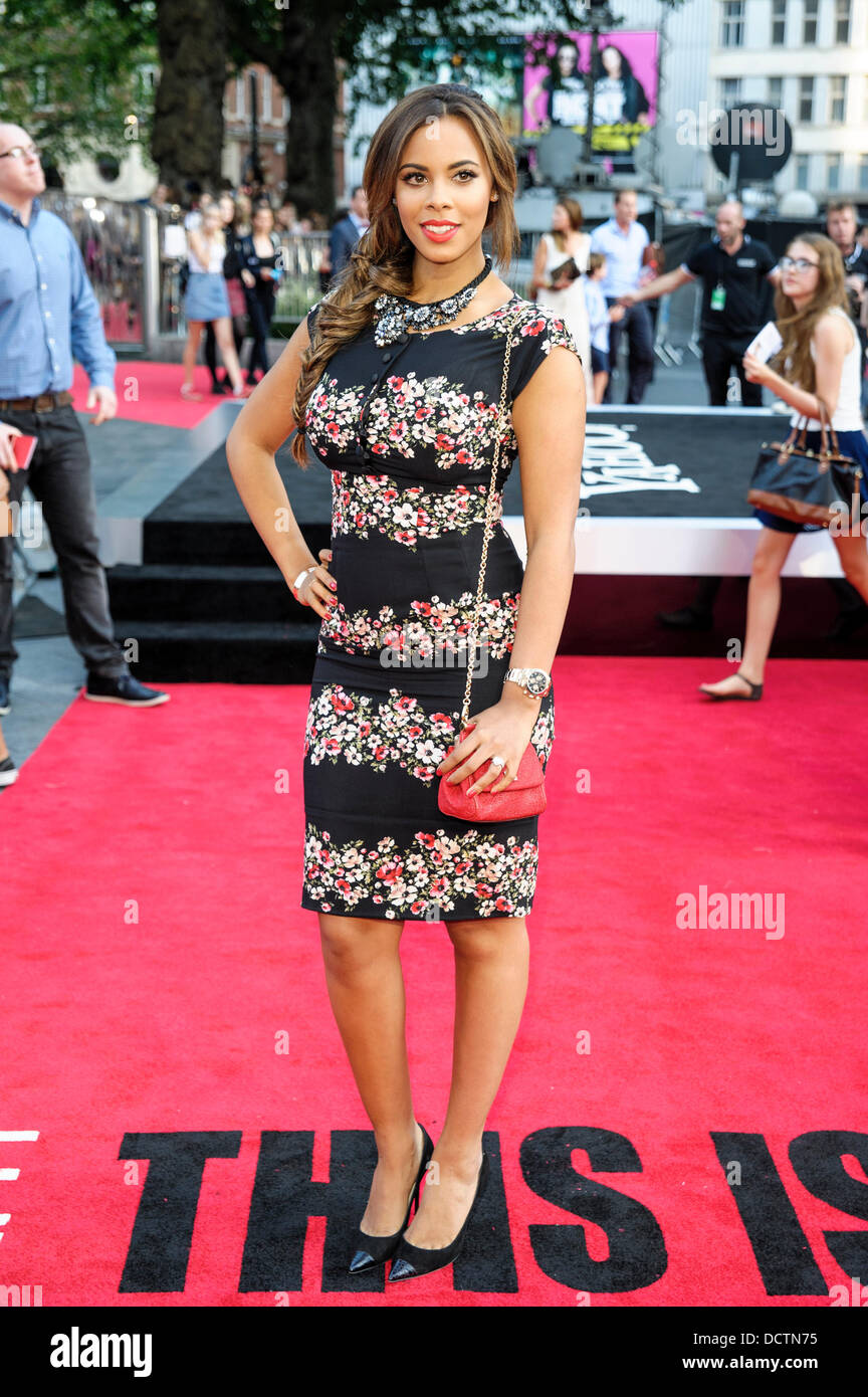 London, UK, 20/08/2013 : The World Premiere of One Direction - This is us 3D. Pictured: Rochelle Humes. Picture - Stock Image