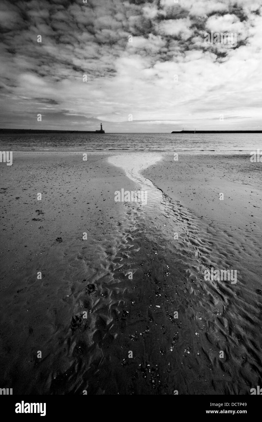 The piers at the city of Sunderland, North East England - Stock Image