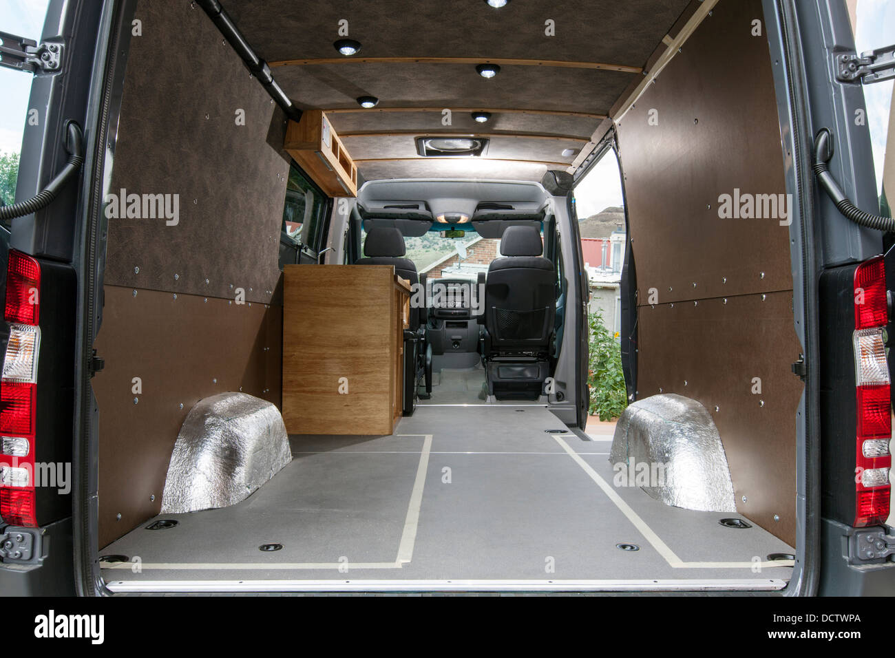 Custom camper Mercedes-Benz Sprinter Cargo Van 2500 - Stock Image