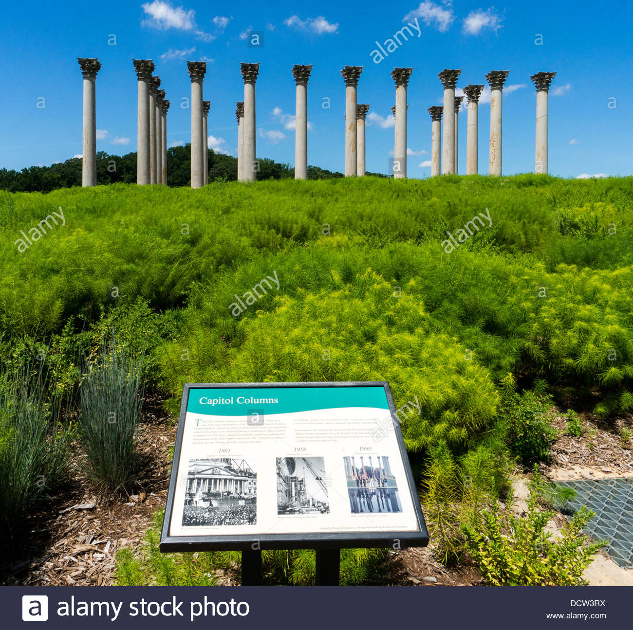 The Capitol Columns At The National Arboretum In Washington Dc
