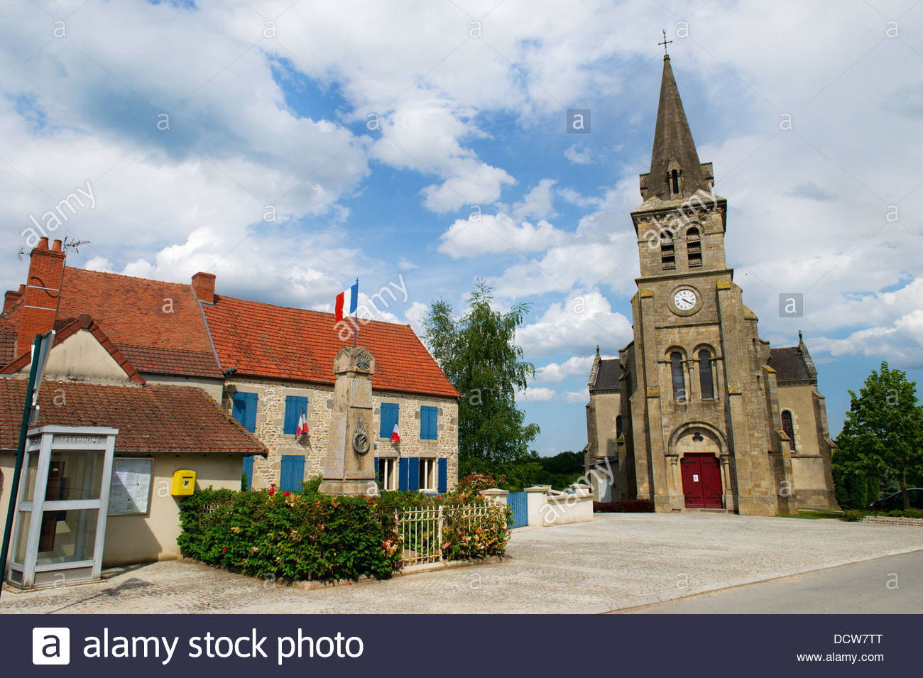 French village in the auvergne - Stock Image