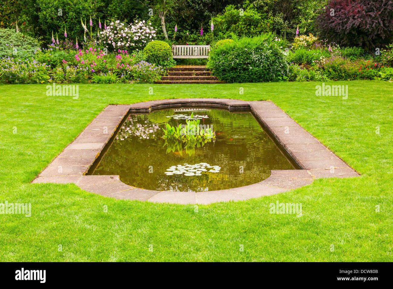 English Flower Garden, Hamilton Gardens, Hamilton, Waikato, New Zealand. - Stock Image