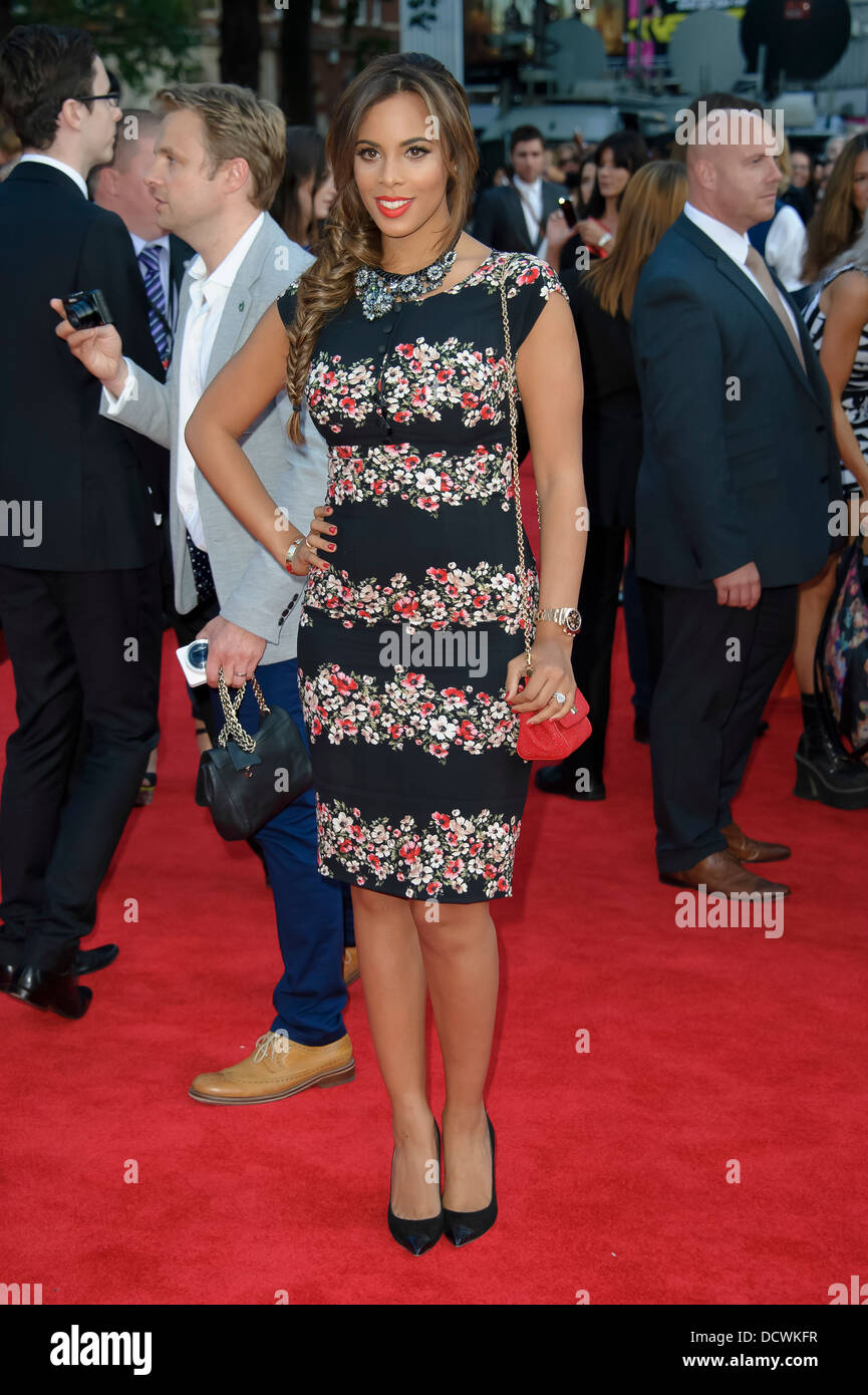 Rochelle Humes arrives for the UK Premiere of 'One Direction: This Is Us 3D' at a central London cinema. - Stock Image