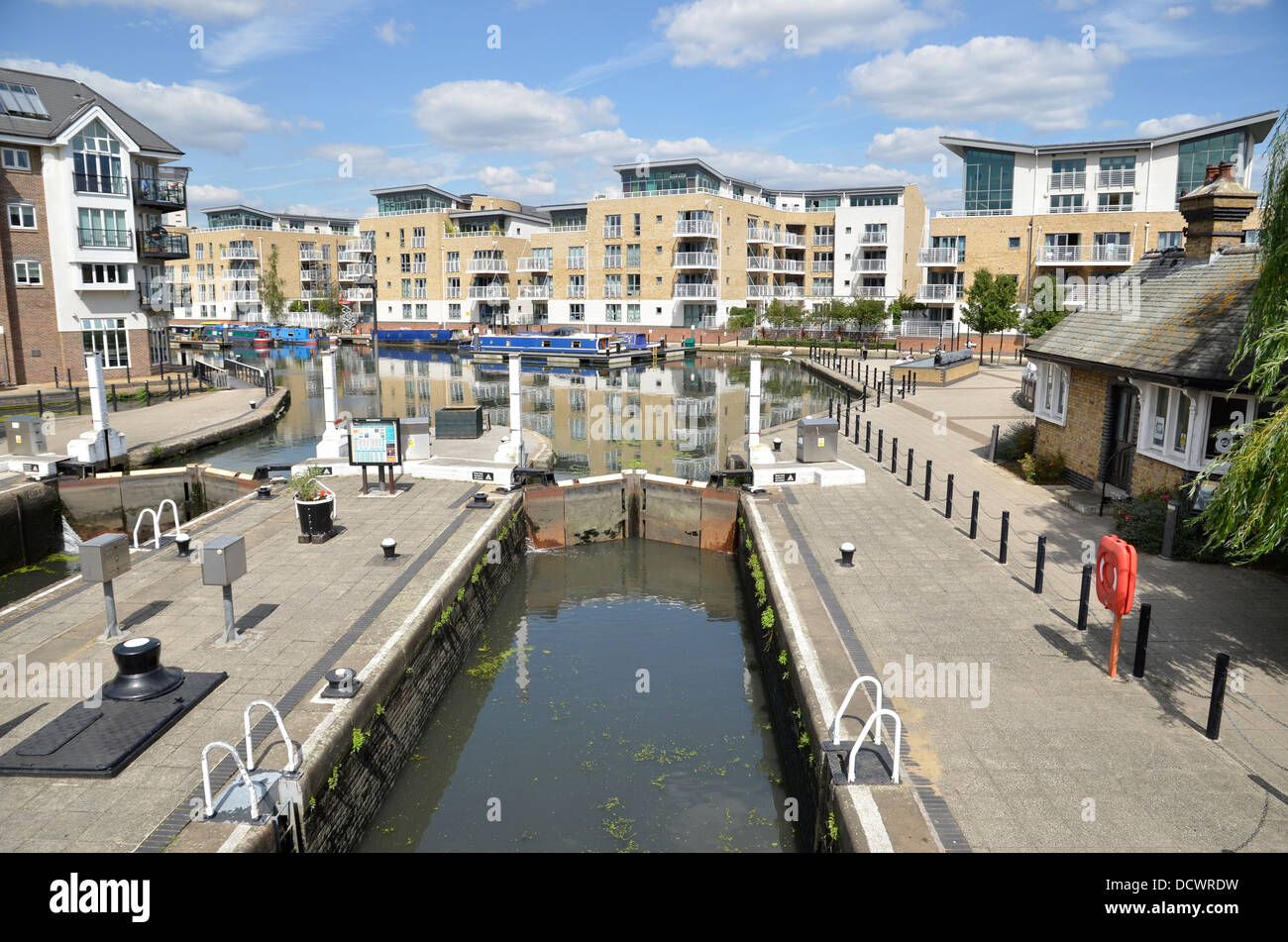 The Grand Union canal basin in Brentford, west London - Stock Image