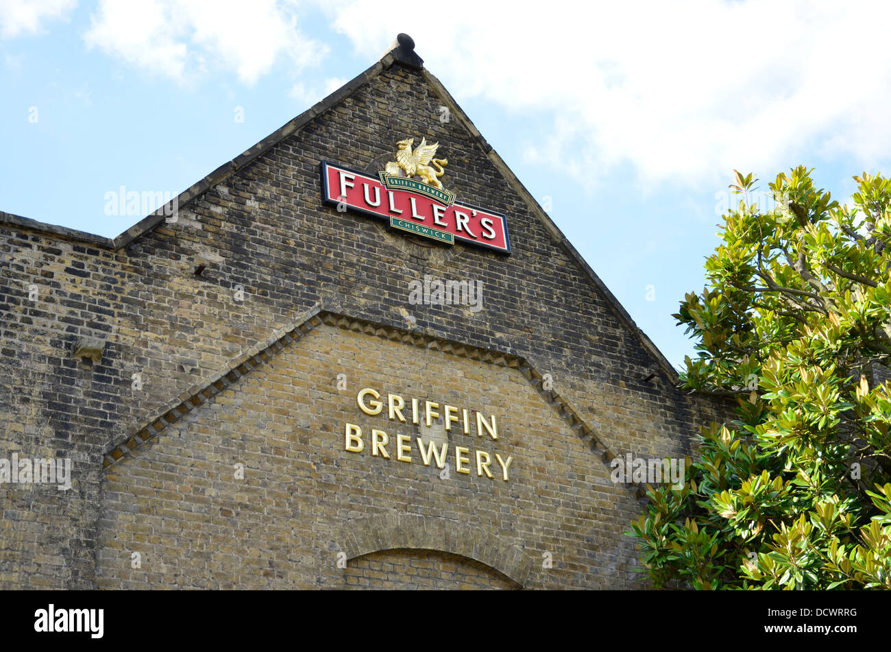 The Fuller's Griffin brewery in Chiswick, London - Stock Image