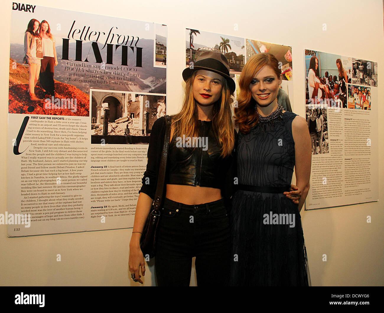 Coco Rocha and Behati Prinsloo The US Premiere of Letters to