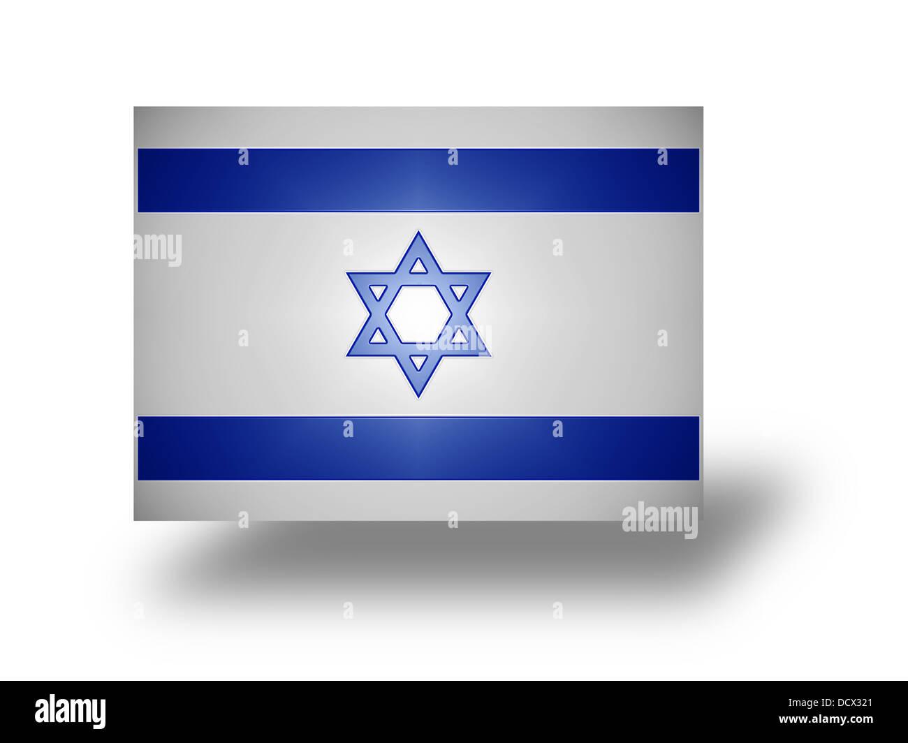 Flag of Israel (stylized I). - Stock Image