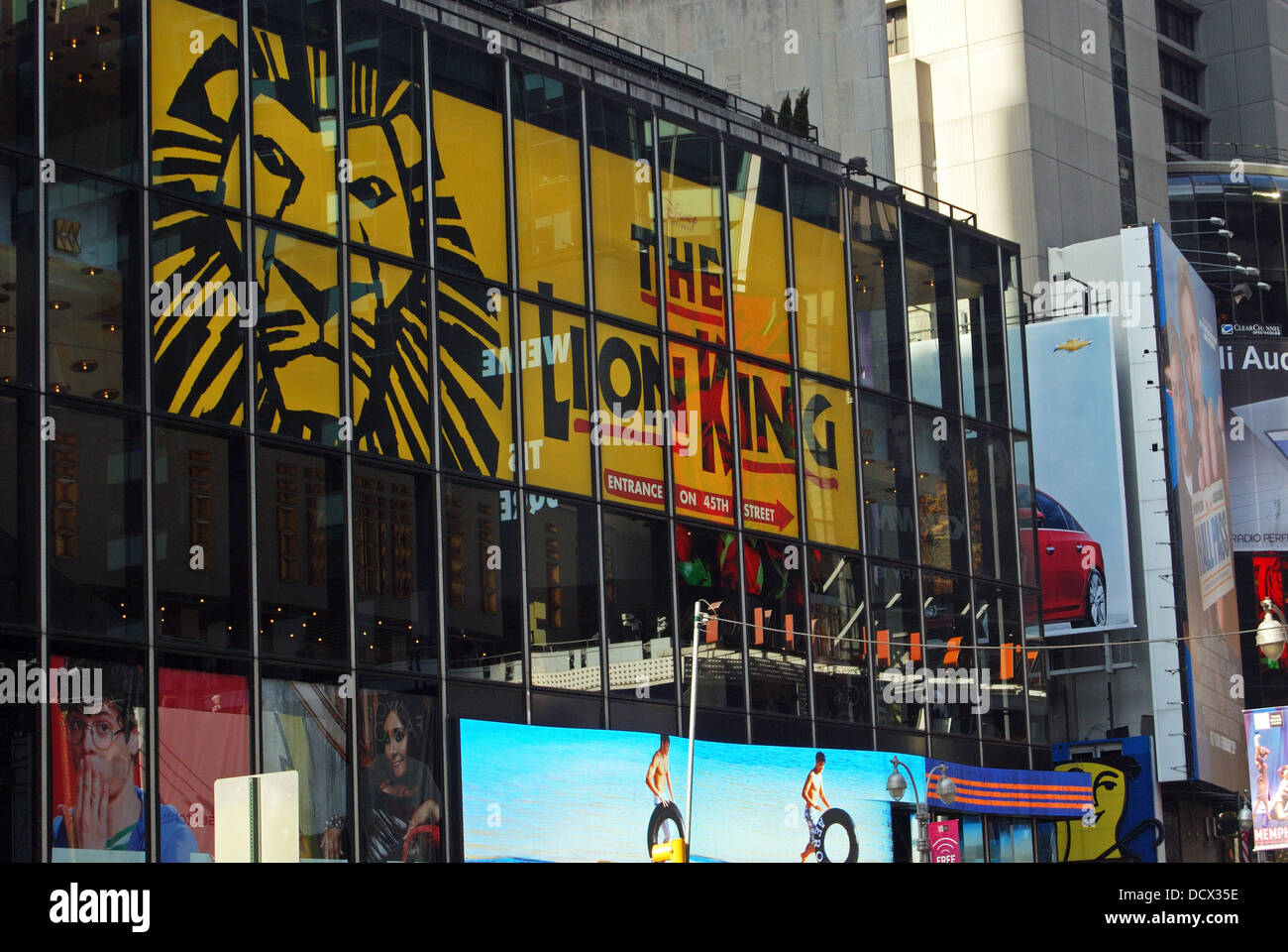 Advertising in Times Square, Manhattan, New York, United States of America. - Stock Image