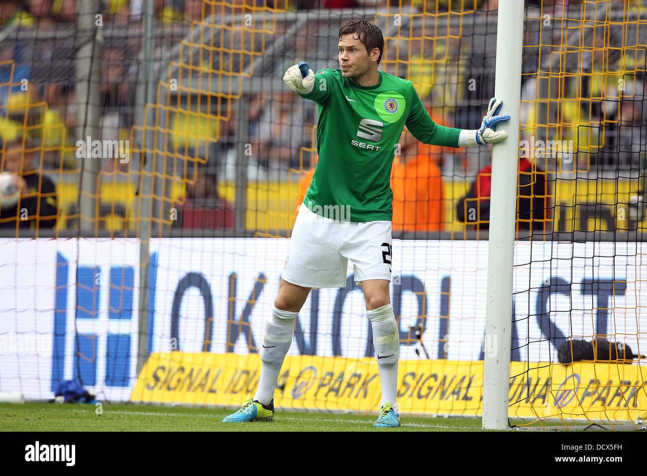 Braunschweig's goalkeeper Daniel Davari in action during the German Bundesliga match between Borussia Dortmund - Stock Image