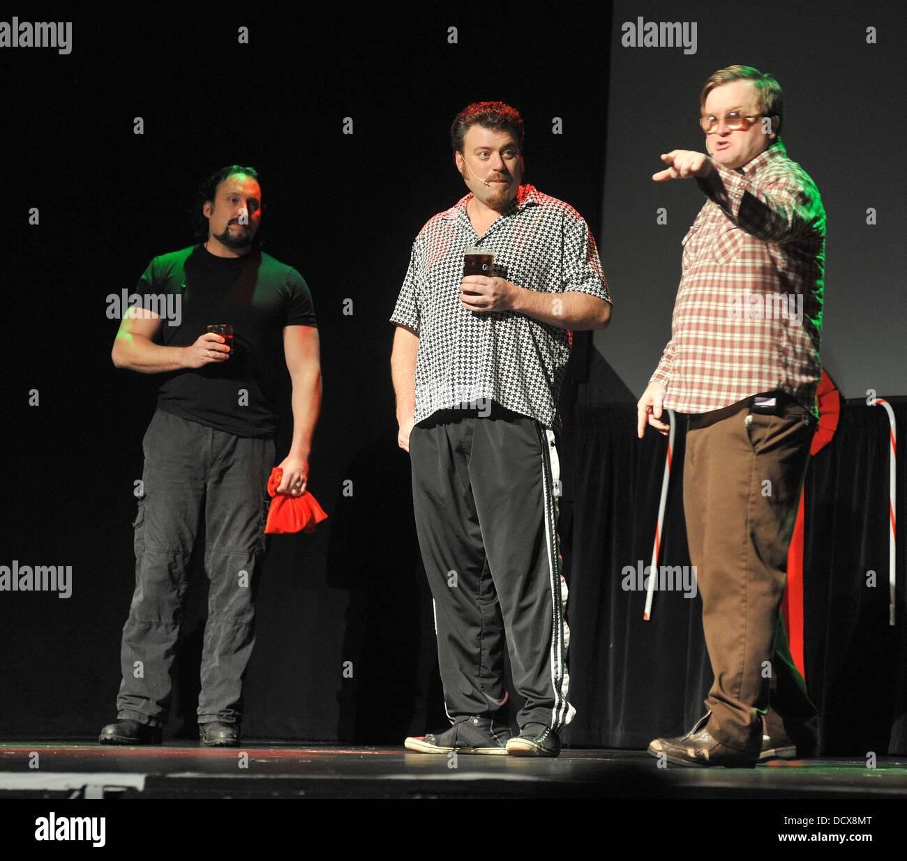 Trailer Park Boys Christmas.The Cast Of The Trailer Park Boys In Their Christmas Stage