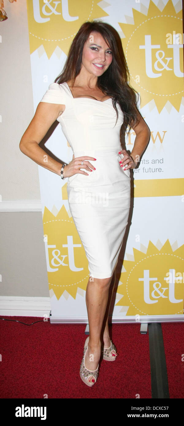 Lizzie Cundy  Today and Tomorrow Fundraising Charity Fashion Show at The Mostyn Hotel London, England - 13.12.11 Stock Photo