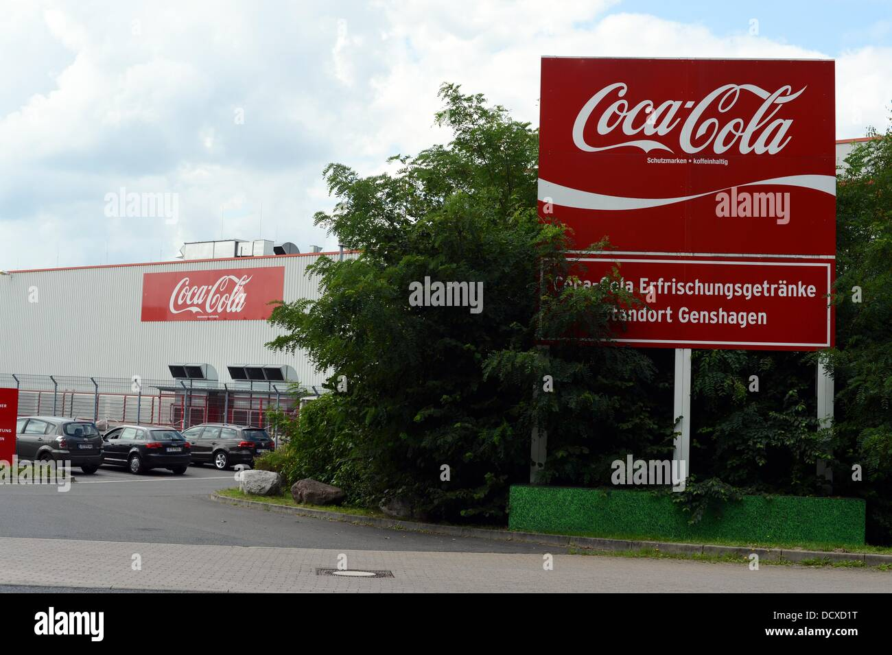 A sign with the logo of Coca-Cola is pictured on the grounds of the ...
