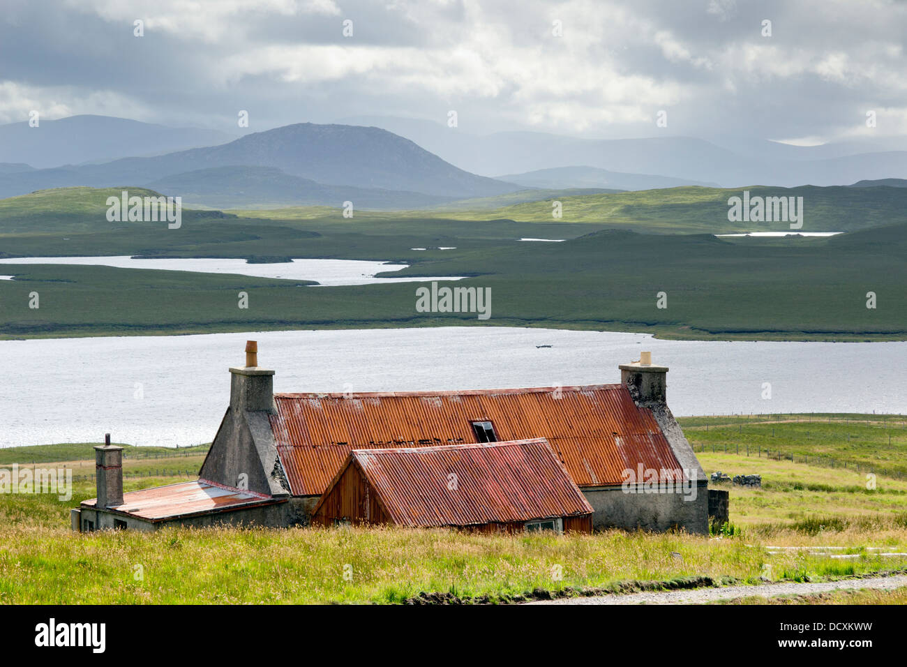 Old Rustic Barn at Achmore Isle of Lewis - Stock Image