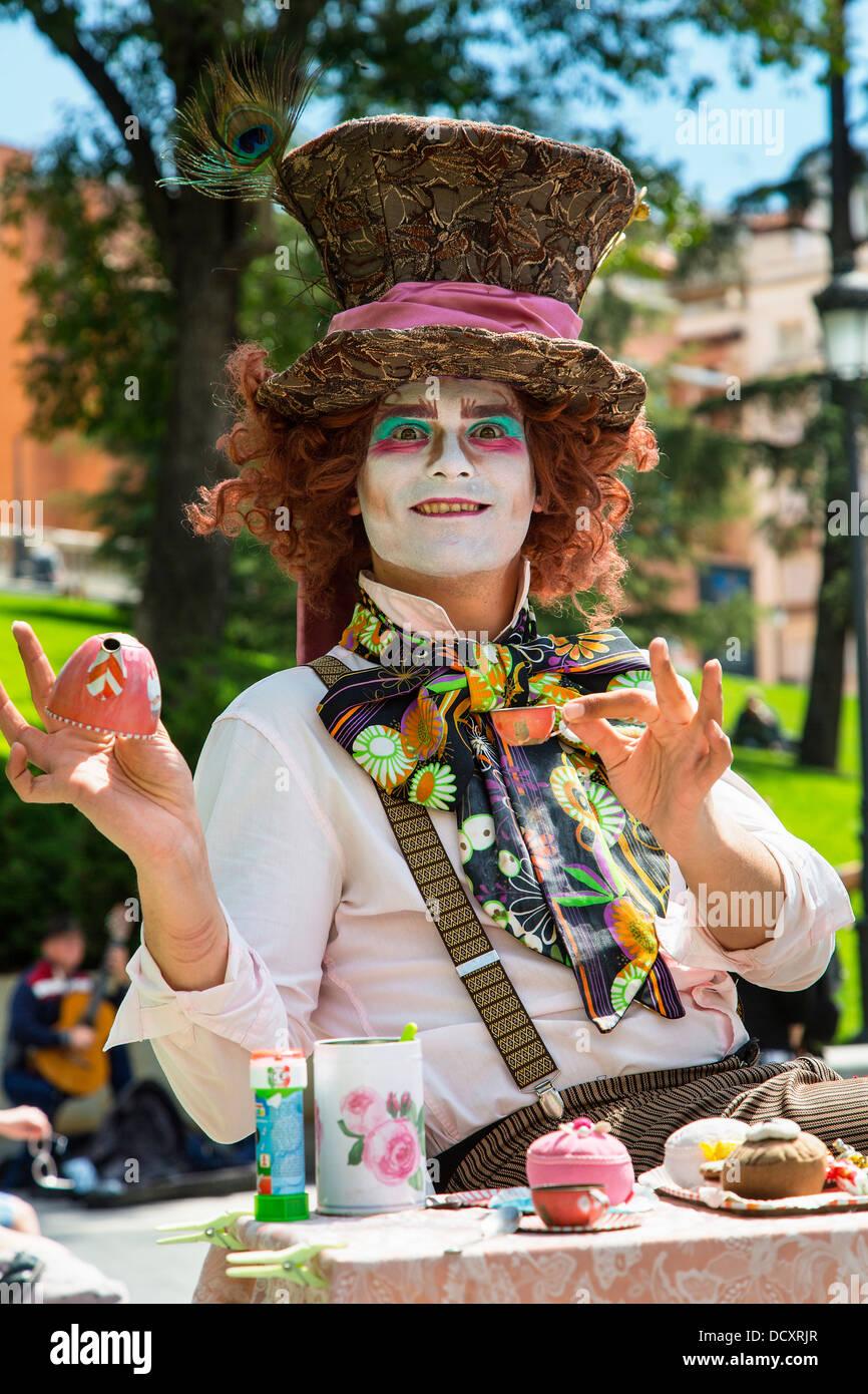 Spain, Street Performer in Madrid - Stock Image