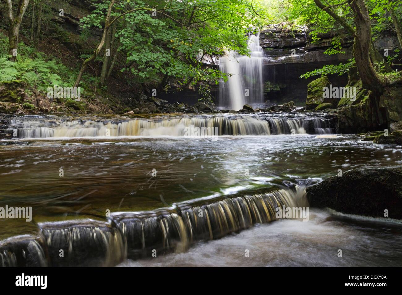 Summerhill Force Bowlees Upper Teesdale County Durham UK - Stock Image