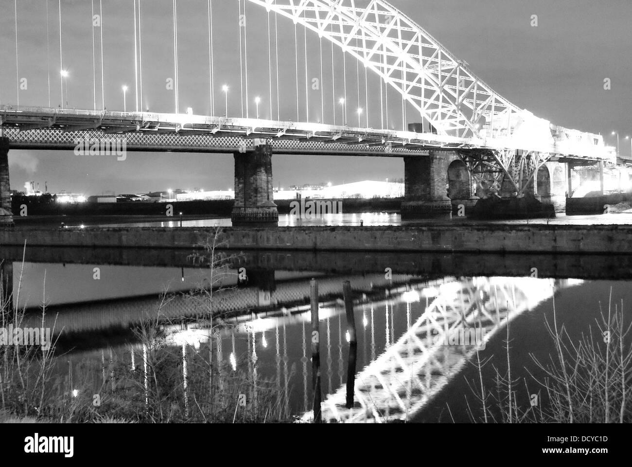 Runcorn Widnes Bridge - Stock Image