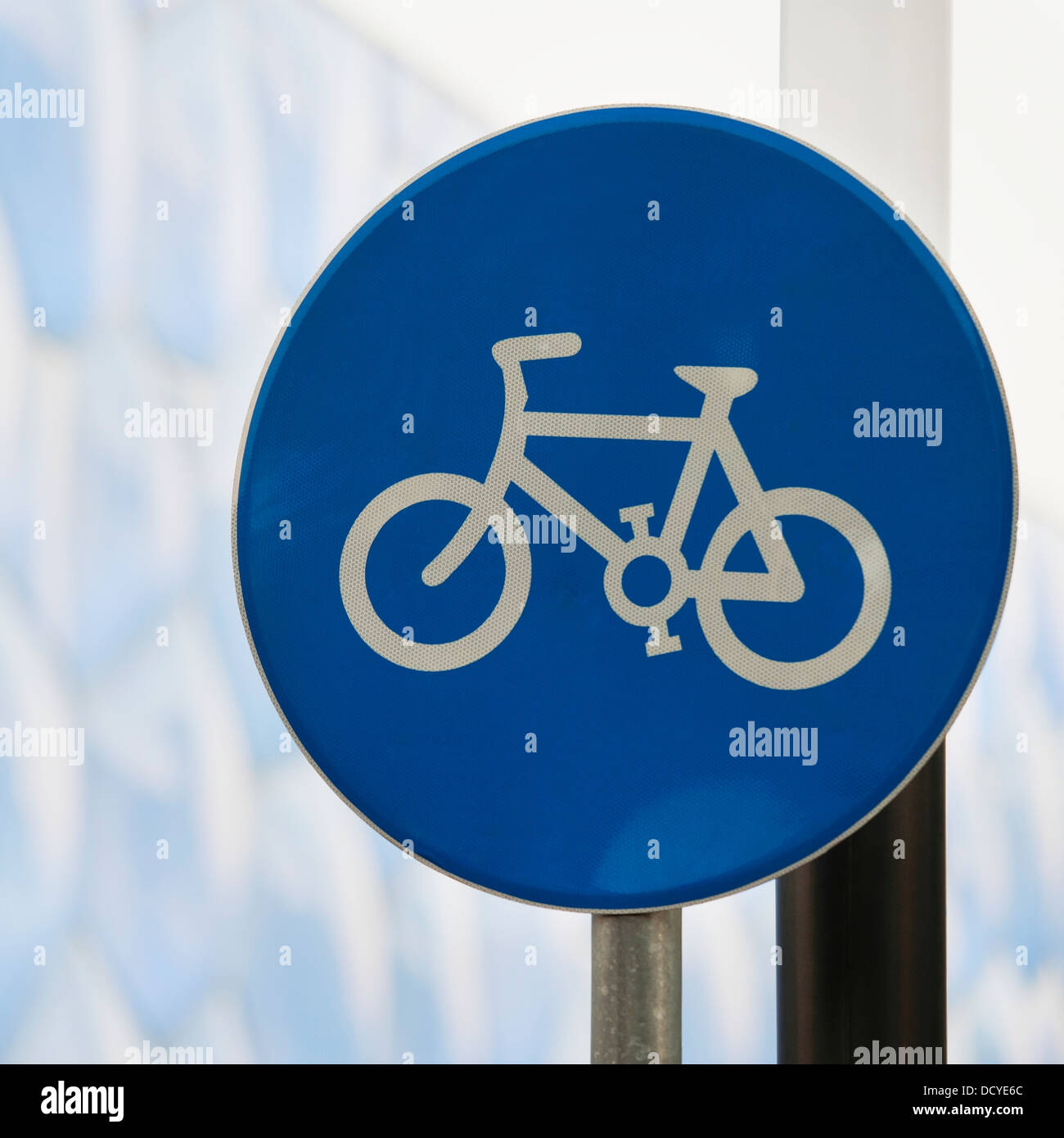 Close Up Of Sign With Bicycle Symbol Beijing China Stock Photo