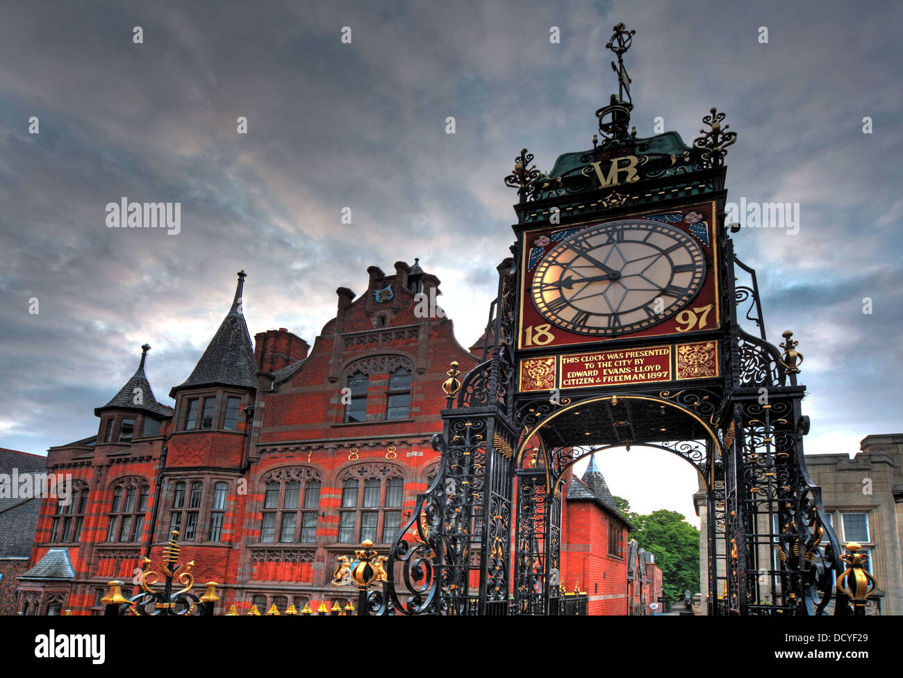 The Eastgate clock, East Gate Chester , Cheshire, England UK - Stock Image