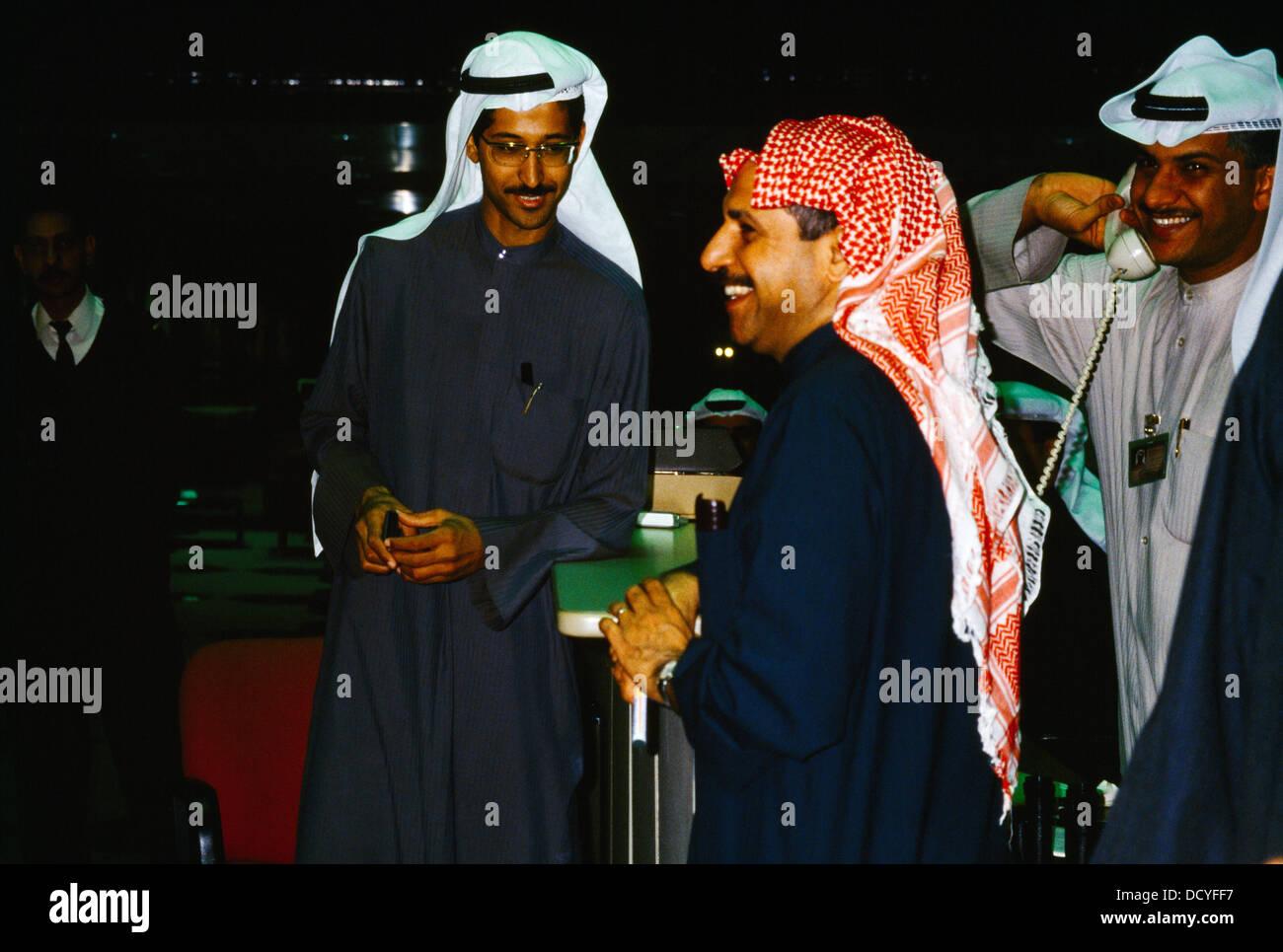 Kuwait City Kuwait Stock Exchange Dealers - Stock Image