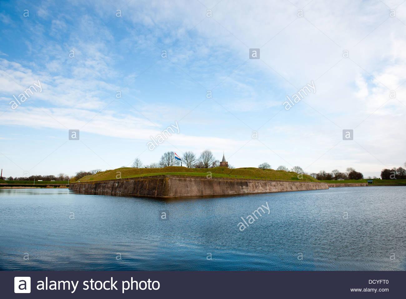 Dutch fortress in Naarden - Stock Image