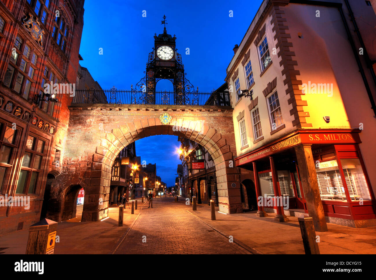 in the city of Chester, NW England UK taken at dusk Stock Photo