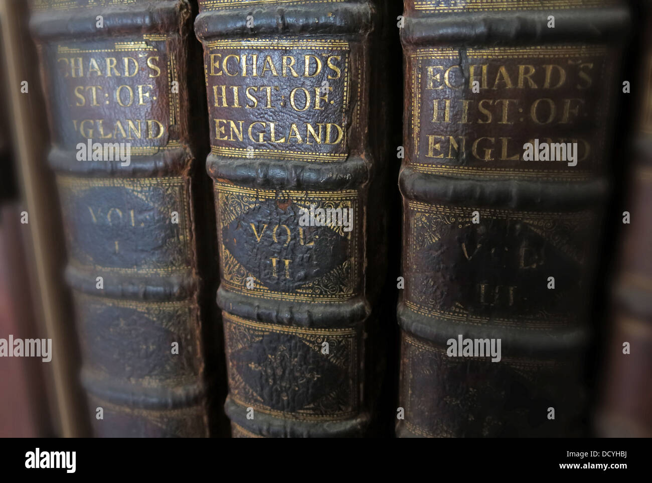Antique & old Books, Echards History of England, Vol1, VolII,VolIII, Stock Photo