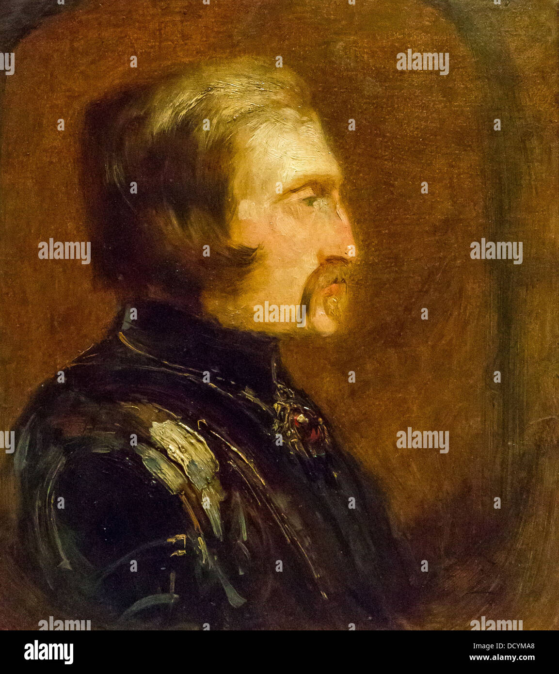 Self-portrait in armor - Félix Ziem - Petit Palais / Musée des Beaux-Arts de la Ville de Paris oil on - Stock Image