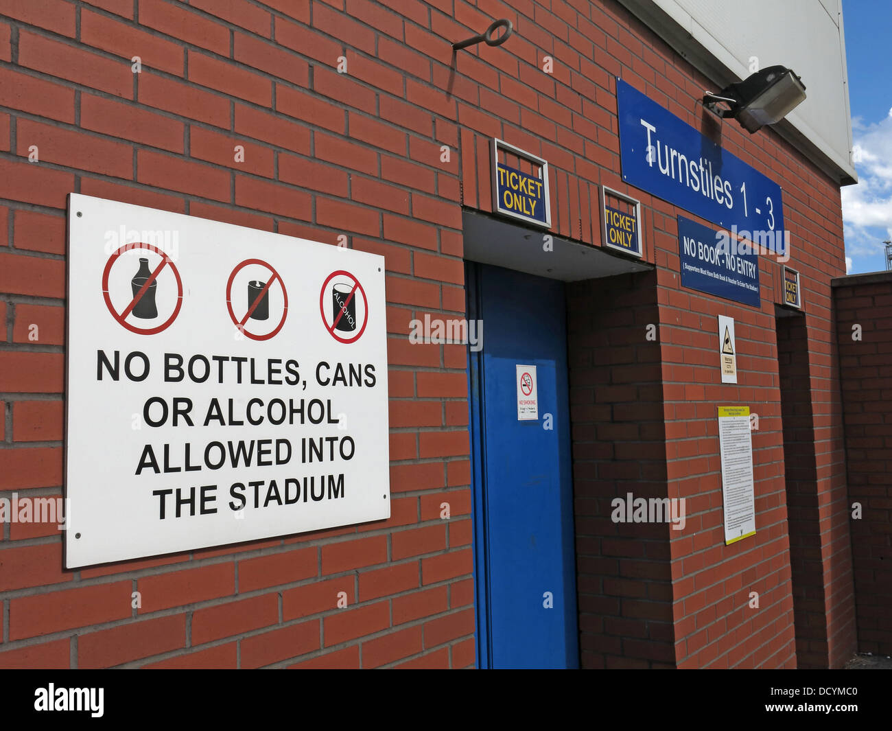 Warrinton Rugby League FC No Alcohol in ground policy, Cheshire England UK - Stock Image