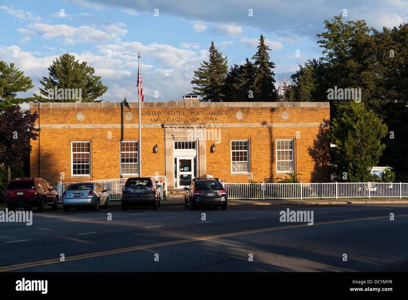 United States Postal Service office in Lake Placid - Stock Image