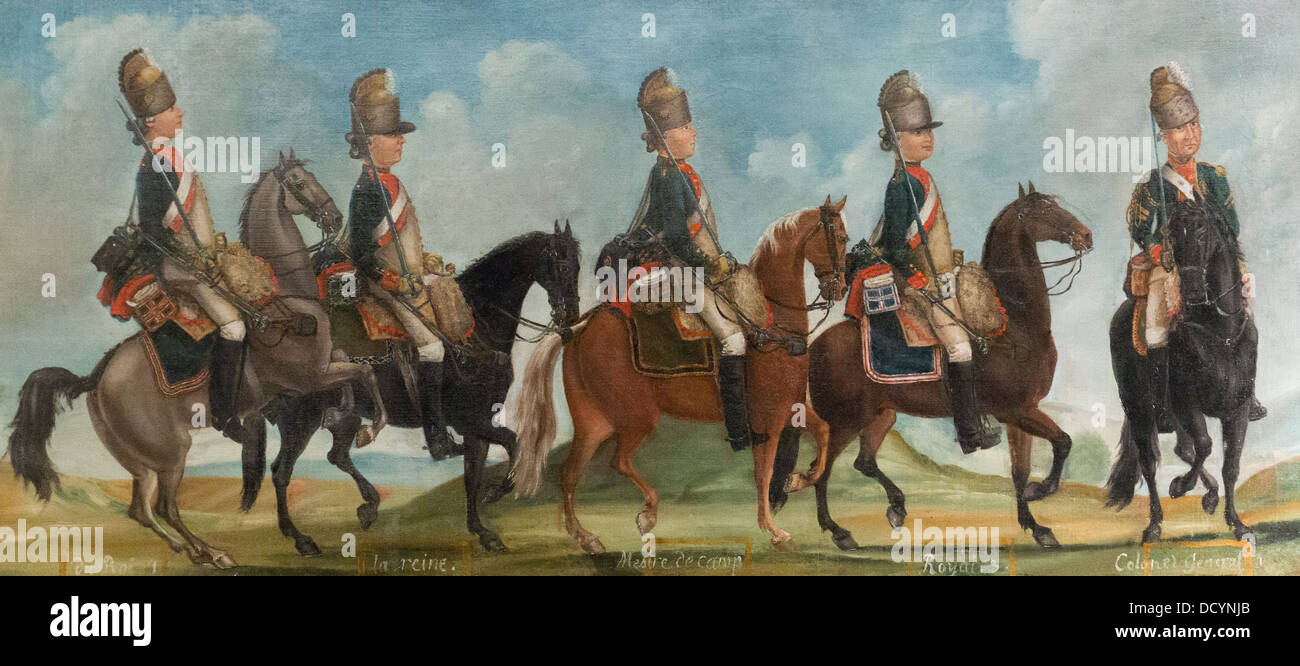 18th century  -  Regiment of Dragoons - Anonymous 1779 - Musée de l'armée / Hôtel National des - Stock Image