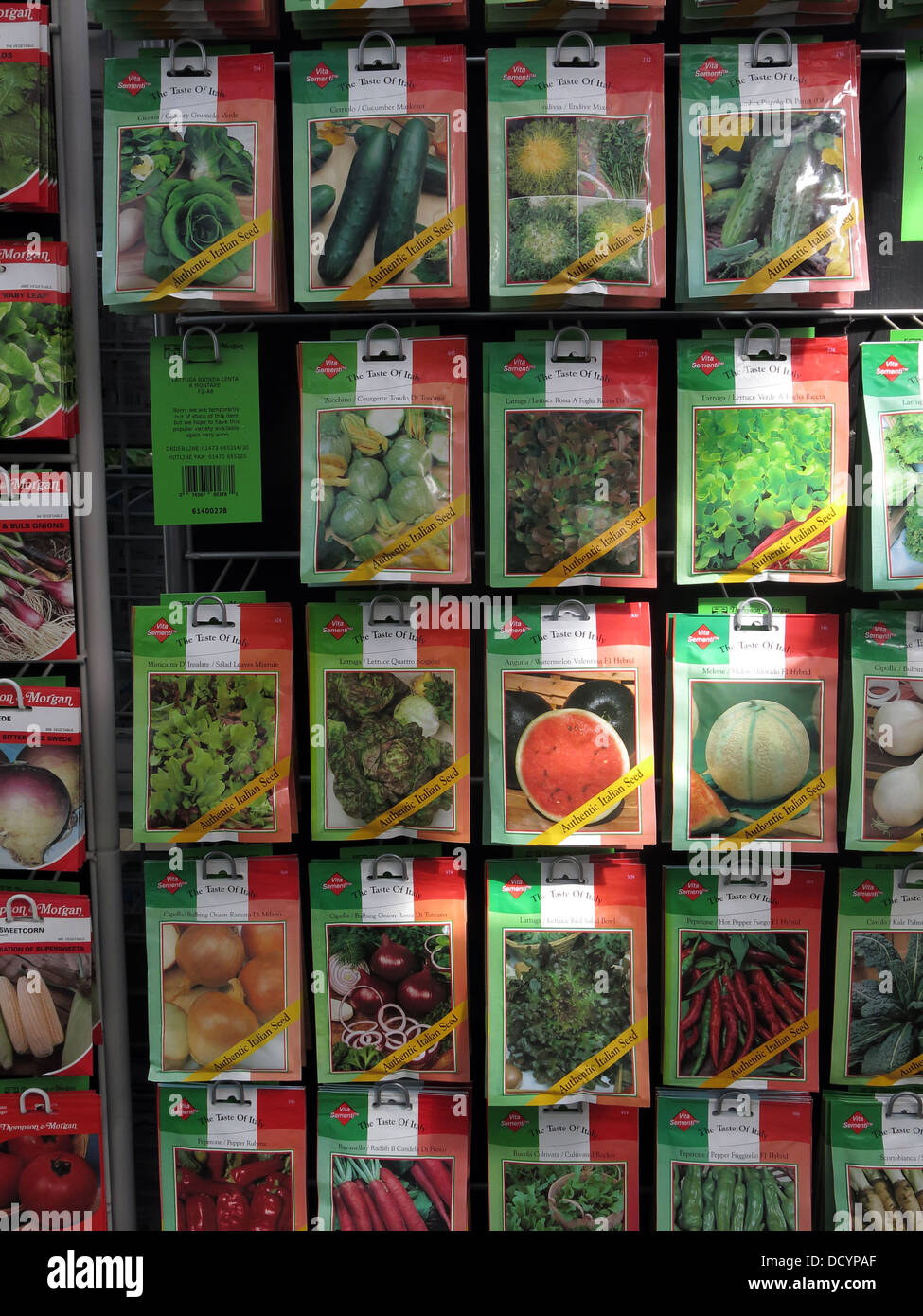 Vita Sementi brand Garden Allotment Seed packets in garden centre / supermarket, now popular again th Great Britain - Stock Image