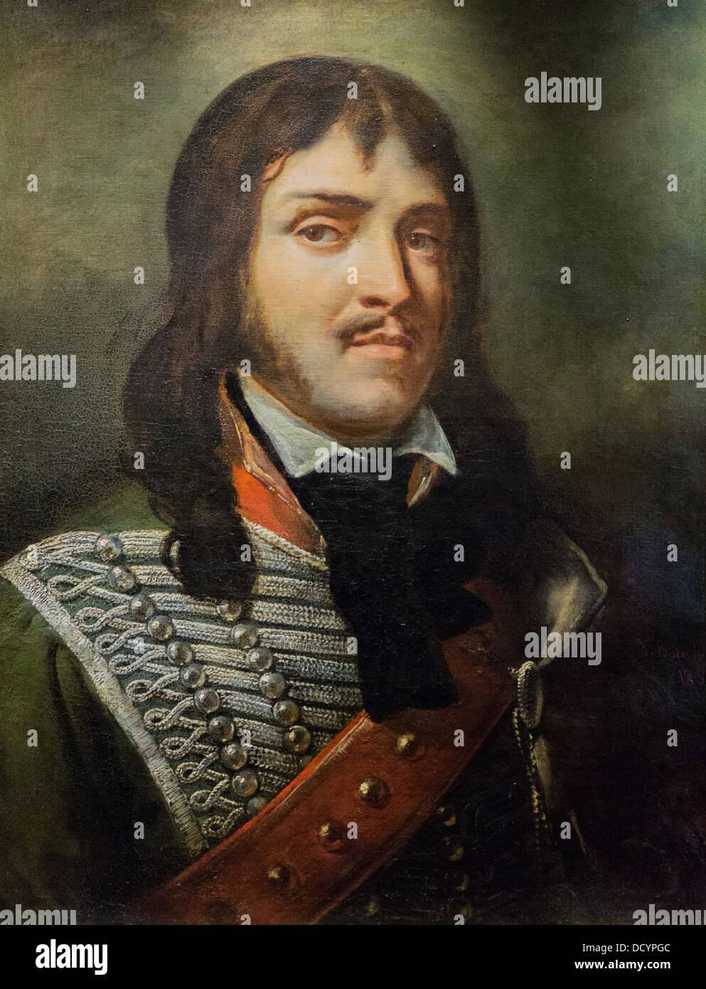 19th century - General François Séverin Marceau Desgraviers- François Bouchot 1840- Musée de - Stock Image