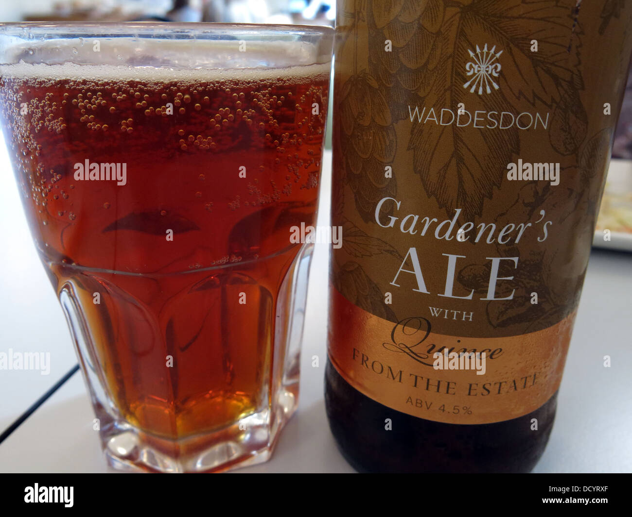 Waddesdon Gardener's ale with quince, from the estate, Bucks, England, UK - Stock Image