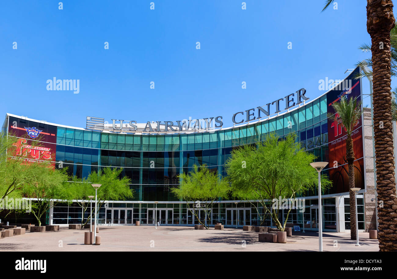 The US Airways Center arena in downtown Phoenix, Arizona, USA - Stock Image