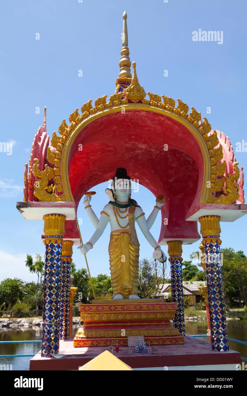 Statues at Wat Plai Laem on Ko Samui Island in the Gulf of Thailand. Stock Photo