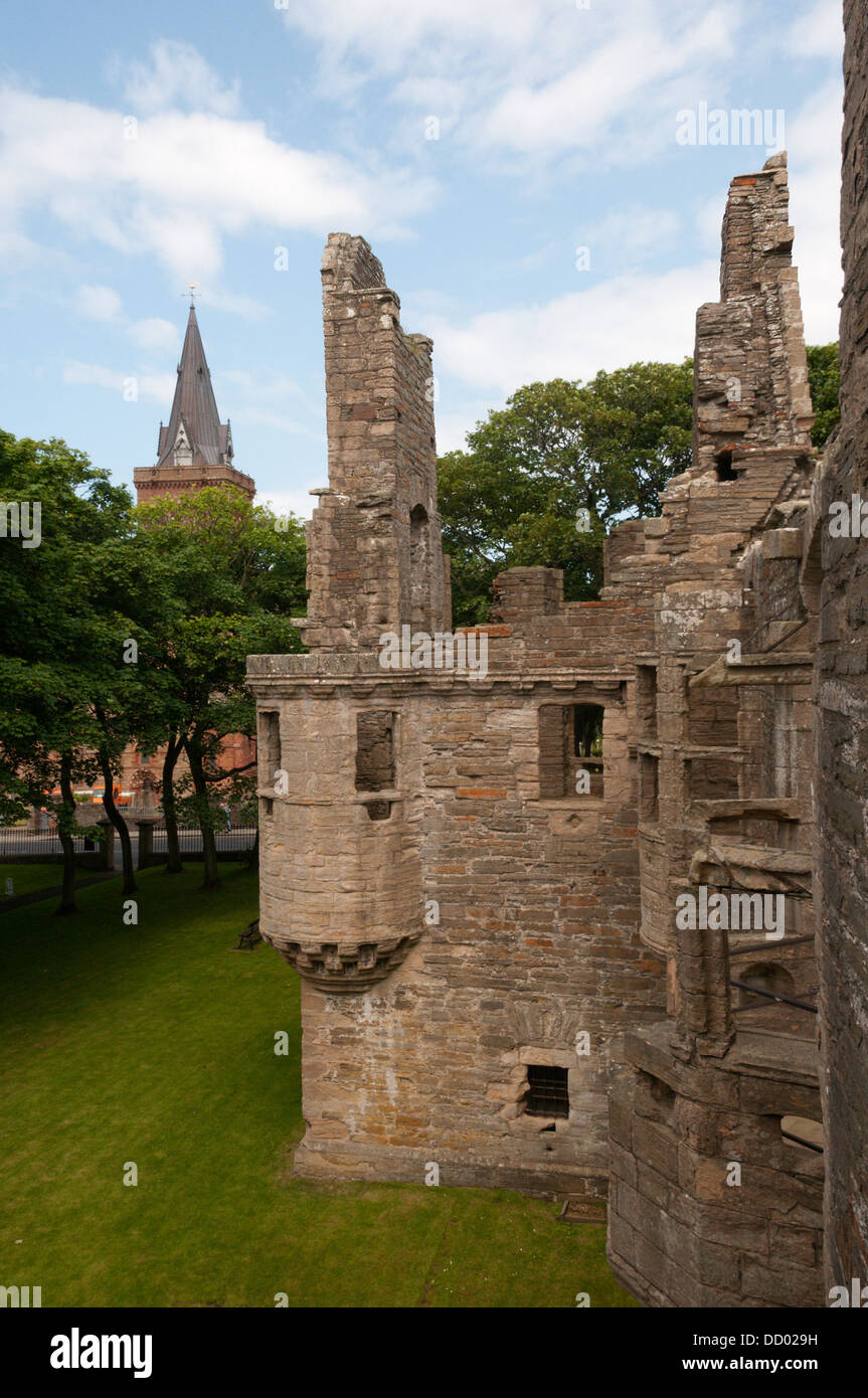 The Earl's Palace in Kirkwall, the capital of Orkney. - Stock Image