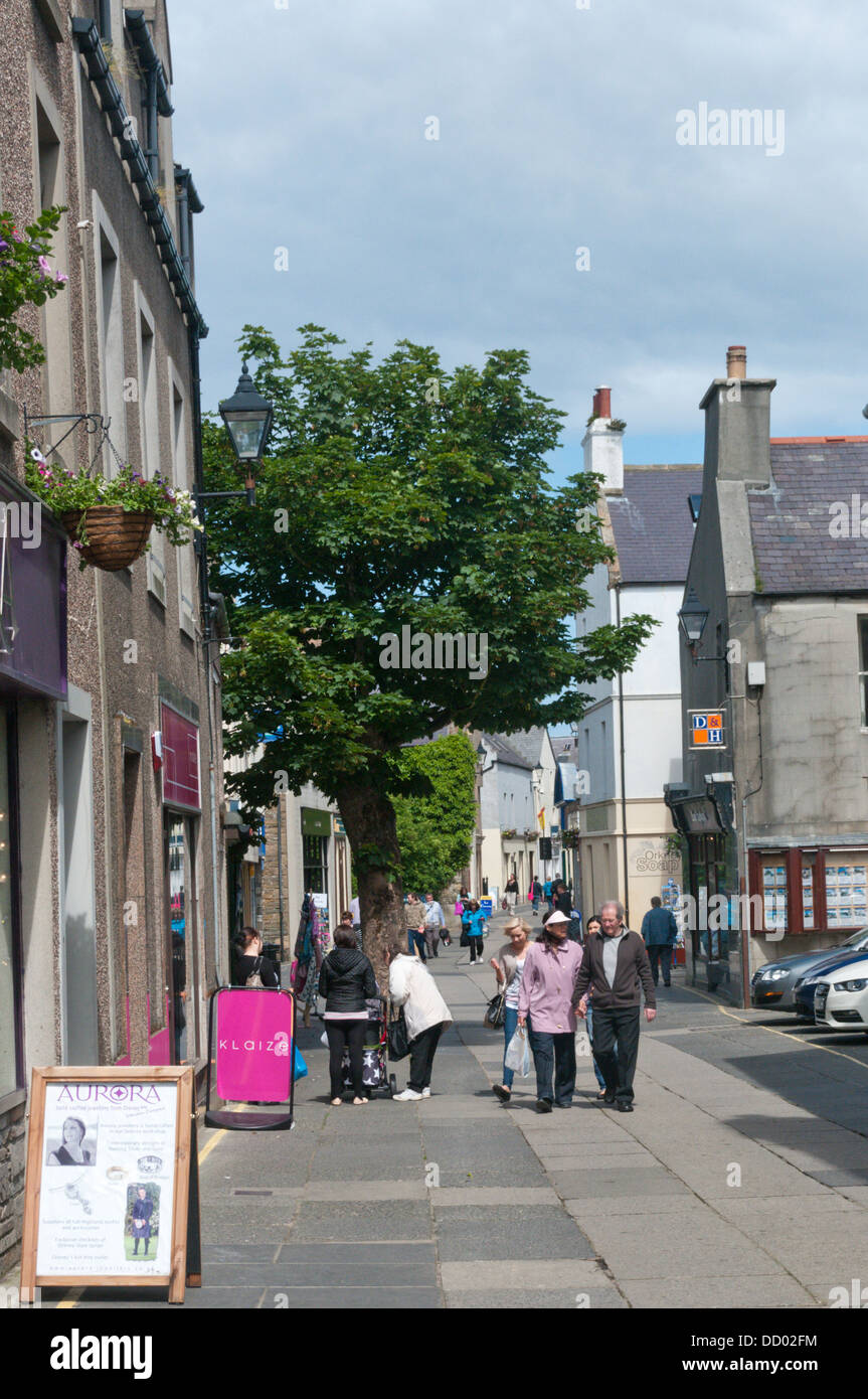 The Big Tree in Albert Street, the main shopping street in Kirkwall, Mainland, Orkney. - Stock Image
