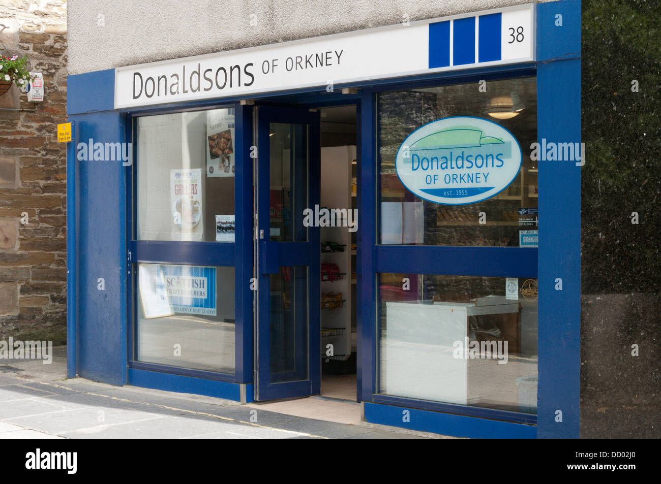 Donaldsons of Orkney in Kirkwall. - Stock Image