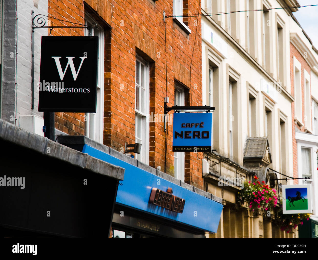 Leading chain brands on the High Street in the UK - Stock Image