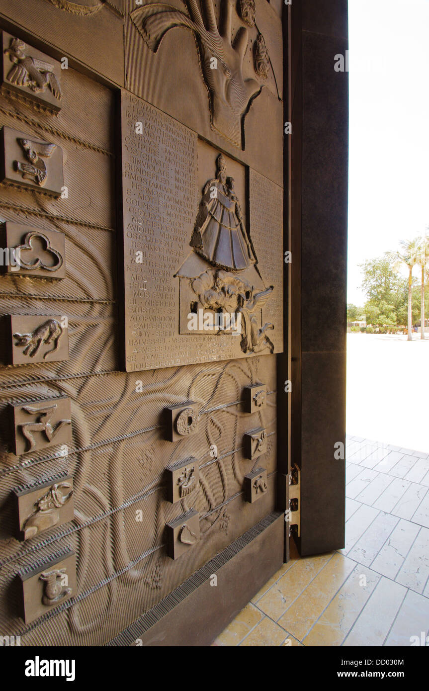 View Of Great Bronze Doors Sculpted By Robert Graham At The Our Lady Of The  Angels