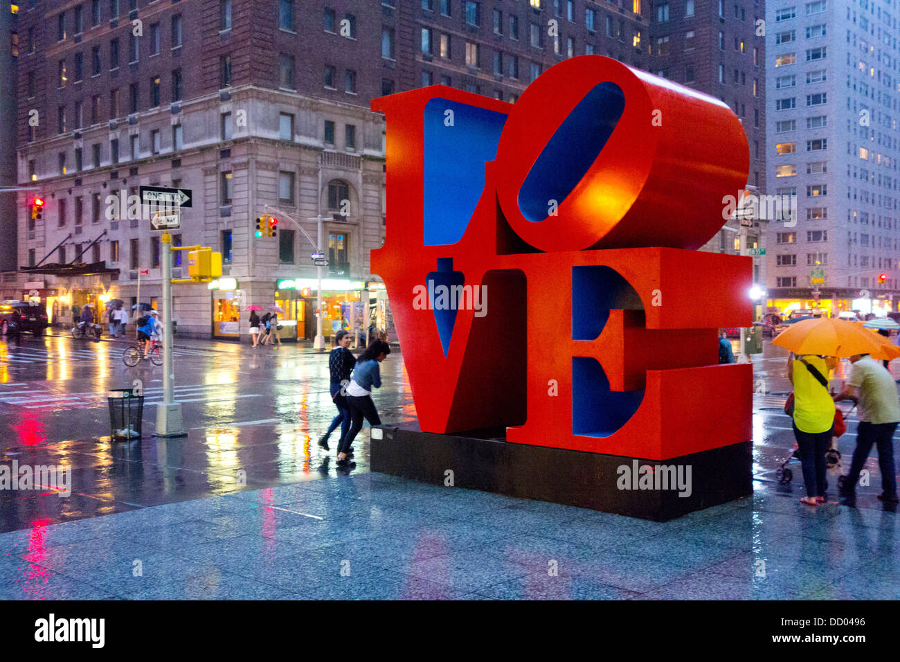 Love sculpture by Robert Indiana in NYC Stock Photo