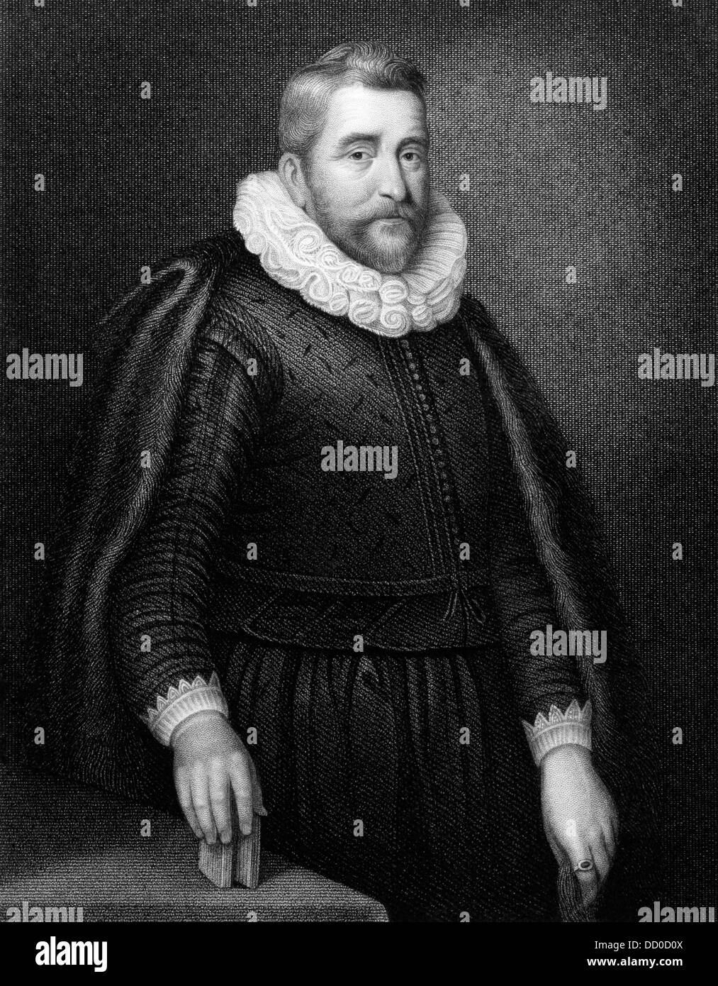 Henry Wotton (1568-1639) on engraving from 1831. English author and diplomat. - Stock Image