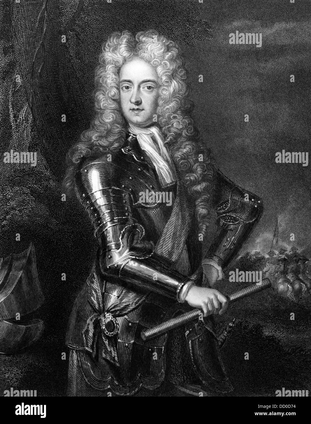 James Butler, 2nd Duke of Ormonde (1665-1745) on engraving from 1830. Irish statesman and soldier. - Stock Image