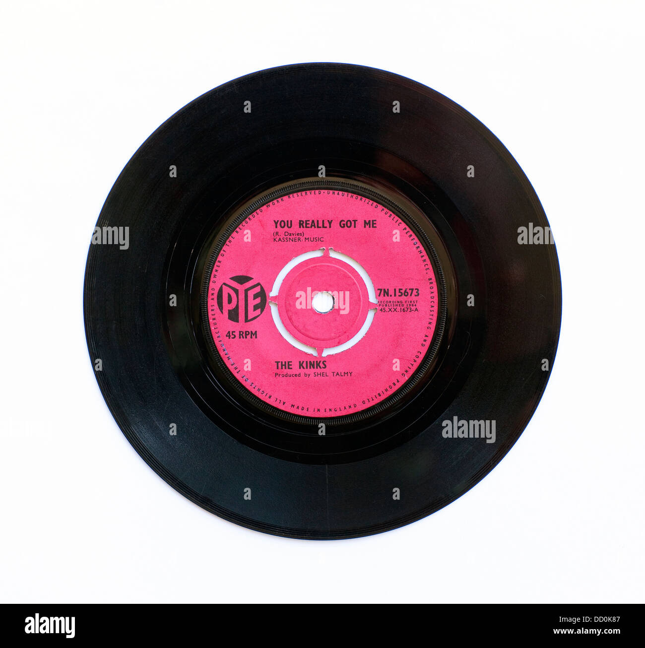 The Kinks - You Really Got Me, 7' single on Pye Records (re-issue) - Stock Image