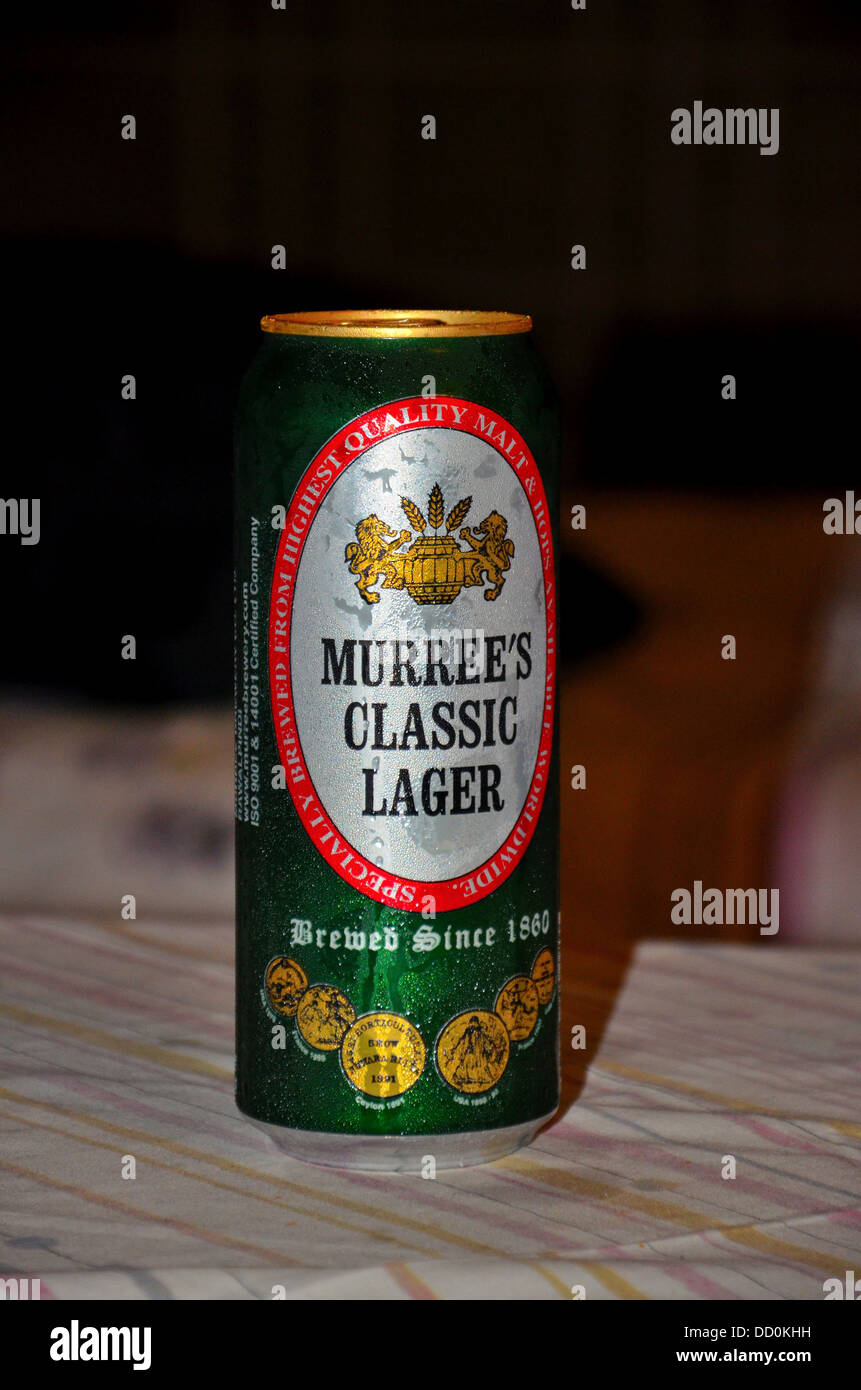 Can of Pakistani Murree Brewery Classic Beer - Stock Image