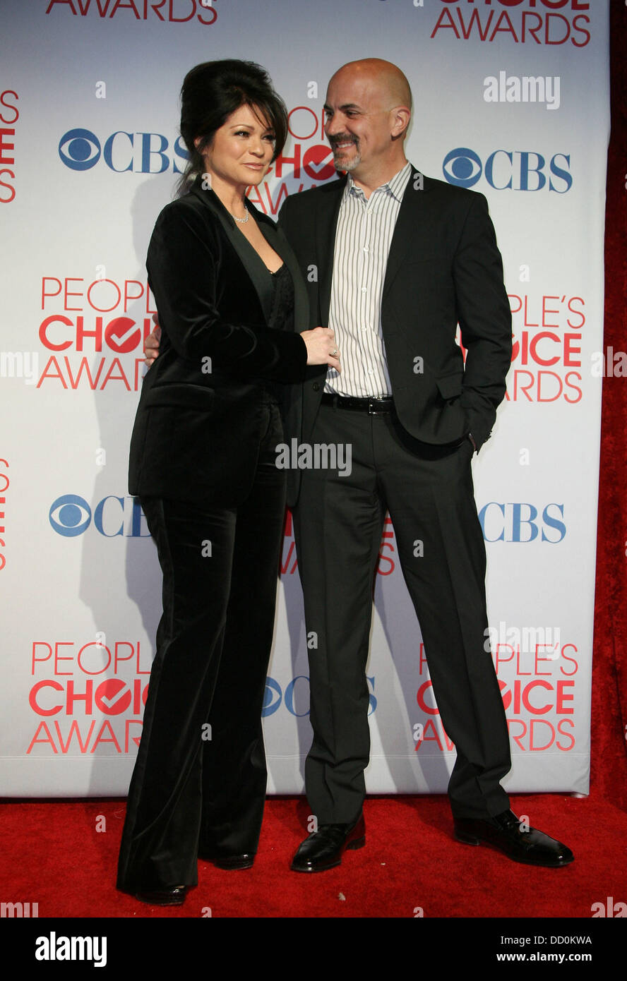 Valerie Bertinelli And Husband Tom Vitale 2012 People S Choice Awards Stock Photo Alamy