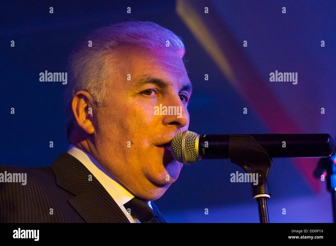 Mitch Winehouse and the Denmark Street Band  performing at the Floridita, Wardour Street  London, England - 10.01.12 - Stock Image